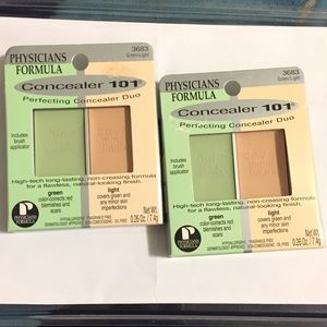 2 Physician Formula Concealer 101 Green/Light 3683